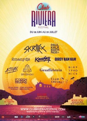 CLUB RIVIERA FESTIVAL 2012 - affiche