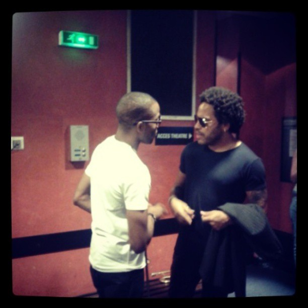 T. Shorty & L. Kravitz before the show at the Olympia / October 2013